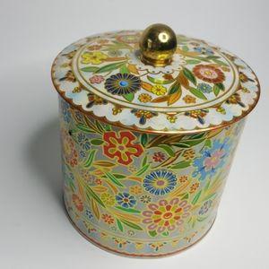 Decorative Vintage Daher Hand Painted Tin